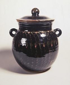 Ceramic Lidded Storage 'Jar' - Acquired 1992 by David Lloyd Jones 1928-1994