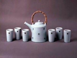 Porcelain teapot and six cups - Acquired 2005 by Chris Keenan 1960-