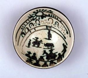 Ceramic Bowl Scene de tauromachie - Acquired 2005 by Pablo Picasso 1881-1973